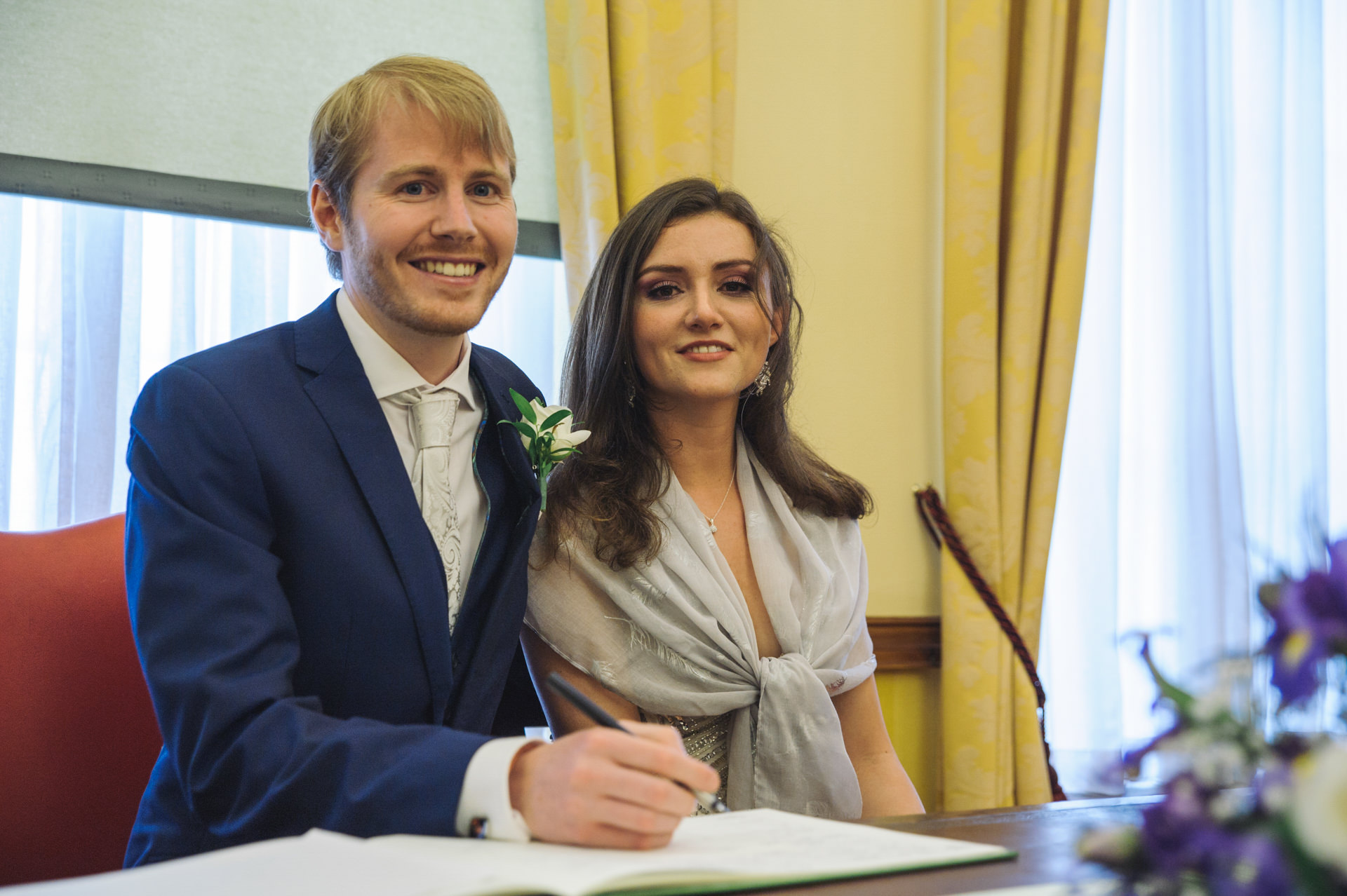 islington town hall wedding signing certificate