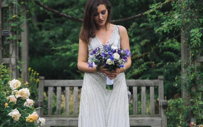 Regents park London wedding bride portrait