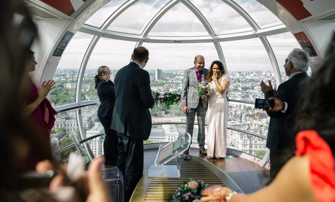 wedding on the london eye